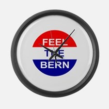 Feel The Bern Large Wall Clock