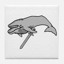 Whale with Sword Tile Coaster