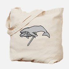 Whale with Sword Tote Bag