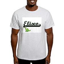 Eliseo Classic Name Design with Dinosaur T-Shirt