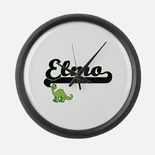 Elmo Classic Name Design with Din Large Wall Clock