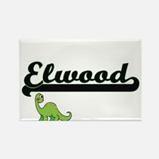 Elwood Classic Name Design with Dinosaur Magnets