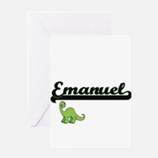 Emanuel Classic Name Design with Di Greeting Cards