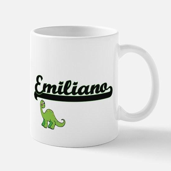 Emiliano Classic Name Design with Dinosaur Mugs