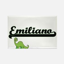 Emiliano Classic Name Design with Dinosaur Magnets