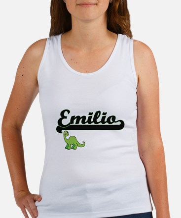 Emilio Classic Name Design with Dinosaur Tank Top