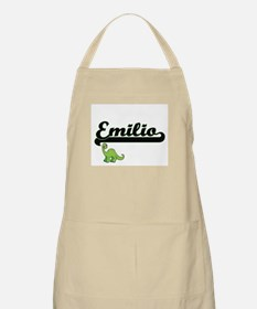 Emilio Classic Name Design with Dinosaur Apron