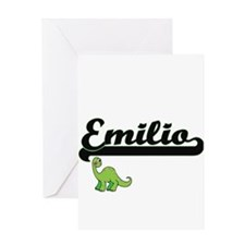 Emilio Classic Name Design with Din Greeting Cards