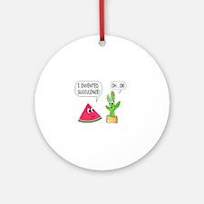 Cute Cactus Round Ornament