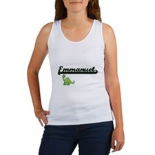 Emmanuel Classic Name Design with Dinosau Tank Top