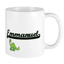 Emmanuel Classic Name Design with Dinosaur Mugs
