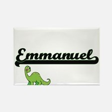 Emmanuel Classic Name Design with Dinosaur Magnets
