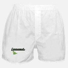 Emmanuel Classic Name Design with Din Boxer Shorts