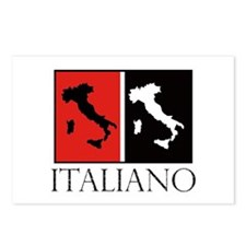 Italiano: Red Black Postcards (Package of 8)