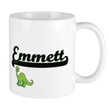 Emmett Classic Name Design with Dinosaur Mugs