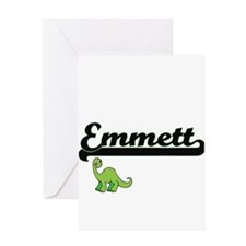 Emmett Classic Name Design with Din Greeting Cards