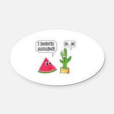 Cute Watermelon Oval Car Magnet