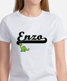 Enzo Classic Name Design with Dinosaur T-Shirt