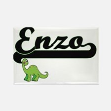 Enzo Classic Name Design with Dinosaur Magnets