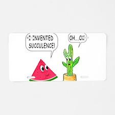 Cute Watermelon Aluminum License Plate