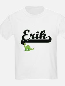 Erik Classic Name Design with Dinosaur T-Shirt