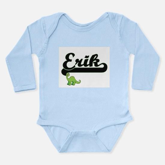 Erik Classic Name Design with Dinosaur Body Suit