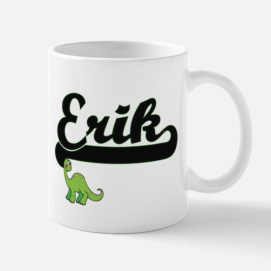Erik Classic Name Design with Dinosaur Mugs