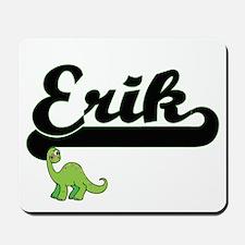 Erik Classic Name Design with Dinosaur Mousepad