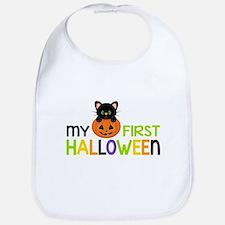 First Halloween Cat Boys Bib