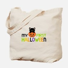 First Halloween Cat Boys Tote Bag