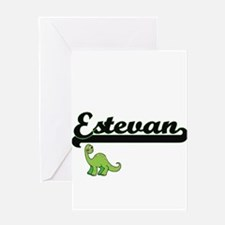 Estevan Classic Name Design with Di Greeting Cards