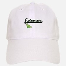 Estevan Classic Name Design with Dinosaur Baseball Baseball Cap