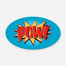 Pow! Oval Car Magnet