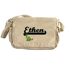 Ethen Classic Name Design with Dinos Messenger Bag