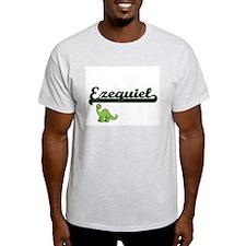 Ezequiel Classic Name Design with Dinosaur T-Shirt