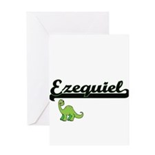 Ezequiel Classic Name Design with D Greeting Cards
