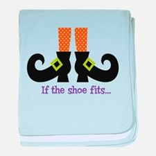 If the shoe fits.. baby blanket
