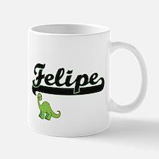 Felipe Classic Name Design with Dinosaur Mugs