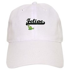 Felipe Classic Name Design with Dinosaur Baseball Cap