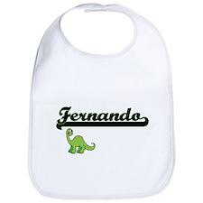 Fernando Classic Name Design with Dinosaur Bib