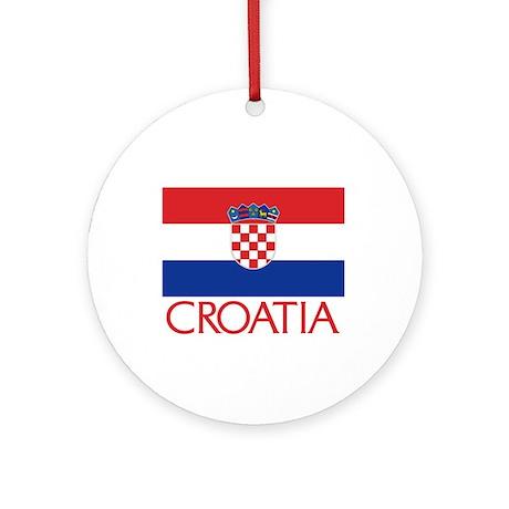 Croatia Flag (C) Ornament (Round)