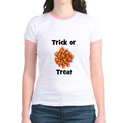 Trick or Treat (candy corn) Jr. Ringer T-Shirt