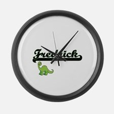 Fredrick Classic Name Design with Large Wall Clock