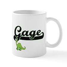 Gage Classic Name Design with Dinosaur Mugs