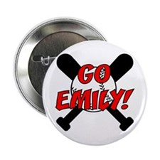 Go Emily Baseball Button