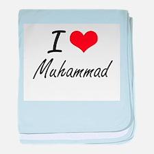 I Love Muhammad baby blanket