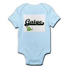 Gaige Classic Name Design with Dinosaur Body Suit