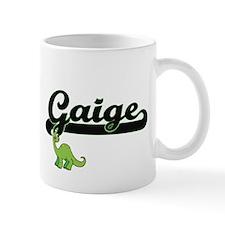 Gaige Classic Name Design with Dinosaur Mugs