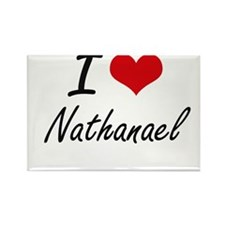 I Love Nathanael Magnets