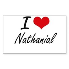 I Love Nathanial Decal
